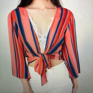 willow & root Front Tie Blouse